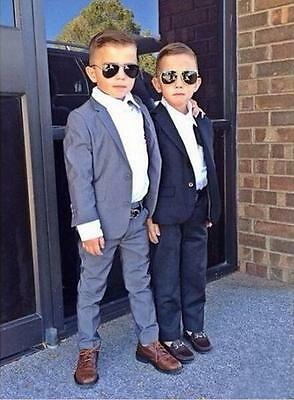 Custom Made Boys Formal Tuxedo Wedding Party Suit Kids Prom Suit Jacket+Pants