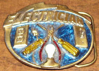 Collector Belt buckle - ELECTRICIAN - numbered, made in USA