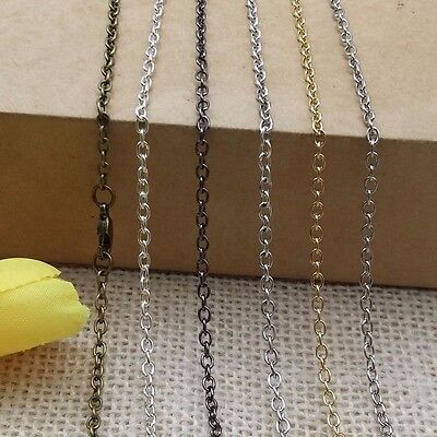 Jewelry Chains For Necklace Pendant Metal Chains With Lobster Clasps 10pcs a lot