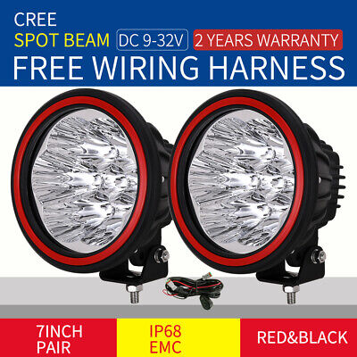 7inch 28800W Cree LED Driving Light Spot Black Offroad Truck work HID4x4 ATV NEW
