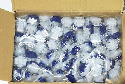 100pc 2 or 3 Wire Connector Pigtail Splice Self Stripping 14 16 18 20 or 22 AWG