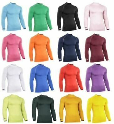 Mens Gents Rhino Baselayer Top Adult Long Sleeve Sports Compression Top