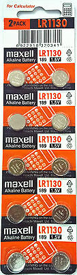 20pcs Maxell LR1130 Battery (AG10/390) 1.5v Alkailine Button Cell