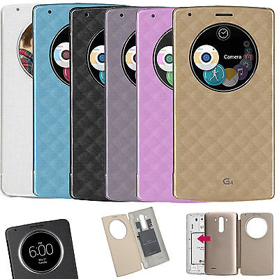 Etui S View Cover LG G4 Smart Circle QI Chargeur Puce Film Port 48h offert