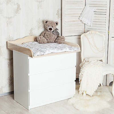 """""""Cloud 4"""" natural wood, curved changing top for IKEA Malm (without dresser)"""