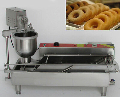 Automatic Commercial Donut Maker Donut Frying Machine With 3 Sizes Moulds 220V