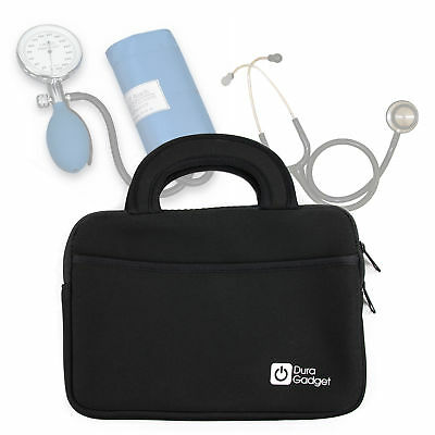 Black Neoprene Case for Storing Medical Equipment (Stethoscope/Sphygmomanometer)