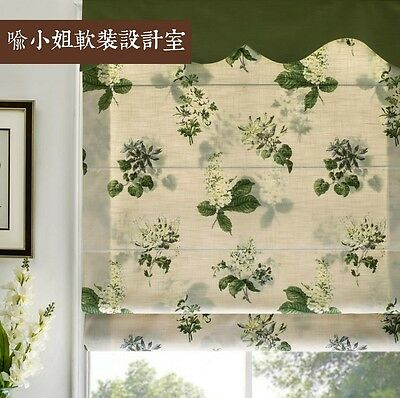 Custom Floral Roman Blind Curtain*Valance Country Cottage Shabby Chic LML004