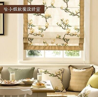 Custom Floral Roman Blind Curtain French Country Cottage Shabby Chic LML003