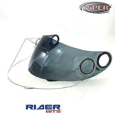 Visor 4 Viper Rsv9 Uk59 Speed Shadow Helmets Rs222 Smoked Clear Replacement