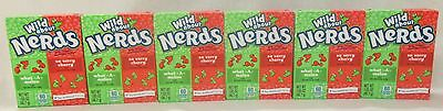 6 x 46.7g PACKETS OF WONKA WHAT-A-MELON & SO VERRY CHERRY NERDS