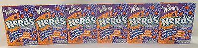 6 x 46.7g PACKETS OF WILLY WONKA WILDBERRY & PEACH CANDY BONBON NERDS