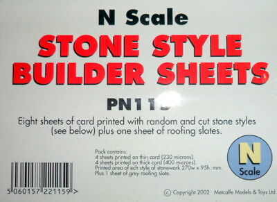 New Metcalfe Stone Builder Sheets PN115 N Gauge