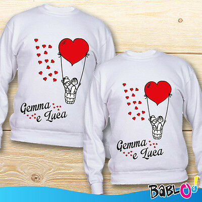 "Coppia di Felpe Love You and Me Idea Regalo San Valentino ""Cupid"""