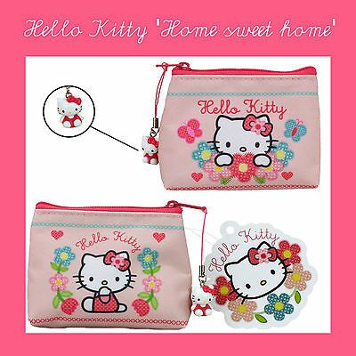 😊 HELLO KITTY HOME SWEET HOME Geldtasche Geldbörse Kinder Portemonnaie