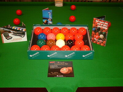 """Aramith Premiere Full Size Snooker Balls 2.1/16"""" (Gift With Card Payment) (New)"""