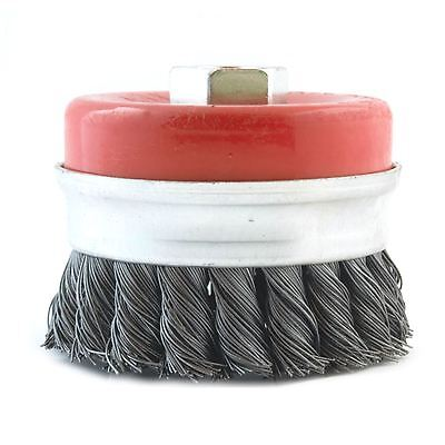 80mm Rotary Wire Knot Twist Industrial Cup Wheel Brush for Angle Grinder M14