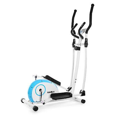 Home Elliptical Cross Trainer Blue/White By Klarfit Exercise Gym Sports Machine