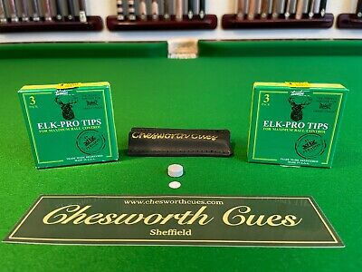 ELK-PRO SNOOKER & POOL CUE TIPS  CHESWORTH CUES SHEFFIELD   Worldwide Dispatch