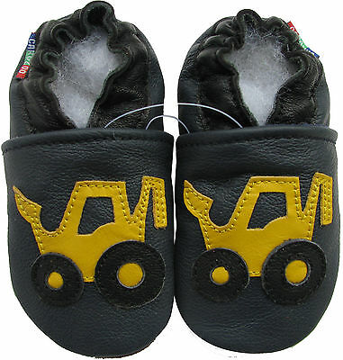 ✿ CHAUSSONS BEBE CUIR SOUPLE CAROZOO NEUF (chariot) ✿