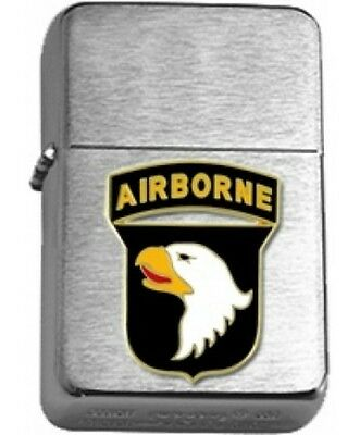 US Army 101st Airborne Brushed Chrome  Star Lighter