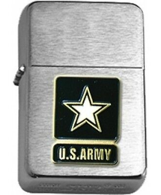 US Army Star Insignia Brushed Chrome Star Lighter