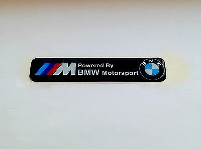 BMW M Power Silicone Badge Emblem Sticker 15mm x 120mm
