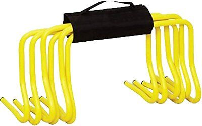 """Soccer Football Speed Agility Training 6"""" Hurdles Set Of 6 With Carry Strap"""