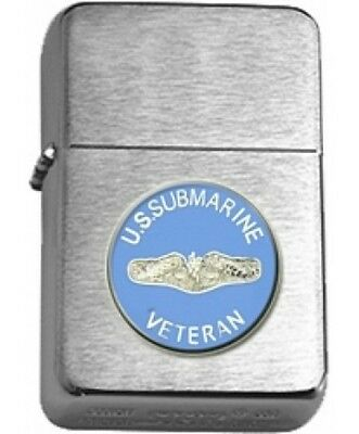 US Navy Submarine Service Insignia Brushed Chrome Star Lighter
