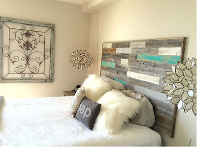 New Rustic Reclaimed Barnwood King Size Wall Mounted Headboard Farmhouse Decor