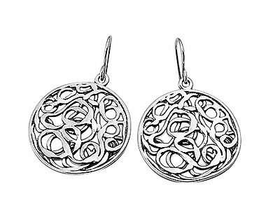 Comforting New Hammered Solid 925 Sterling Silver Stud Earrings Women's