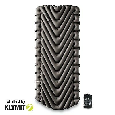 KLYMIT Static V LUXE Sleeping Pad GREY Lightweight Camping FACTORY REFURBISHED