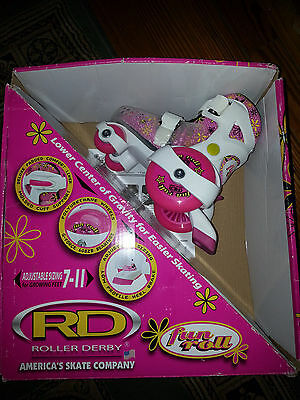 Roller Derby Girl's Fun Roll Adjust Roller Skate Youth Small 7-11*2 Right Skates