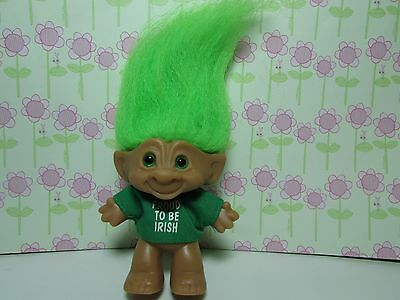 "PROUD TO BE IRISH  - 3"" Ace Treasure Troll Doll - EXCELLENT"