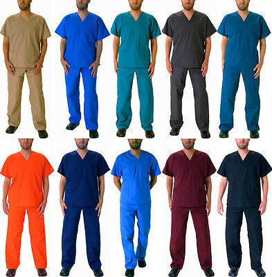 Natural Workwear Mens Authentic EDS Unisex Medical Uniform Cargo Scrub Set