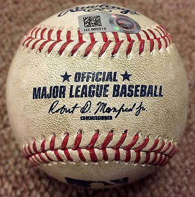 Josh Donaldson MLB Holo Game Used Baseball HR 2016 Toronto Blue Jays