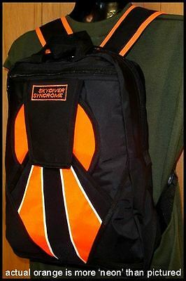 Skydiver Syndrome Backpack Parachute Mini Container Rig Gym Book Bag Orange S09