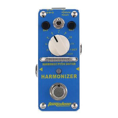 AROMA Harmonizer Harmonist/Pitch Shifter Electric Guitar Effect Pedal J2Y9