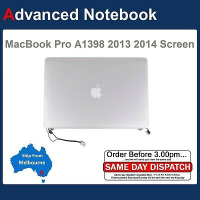 """Genuine Apple Macbook Pro Retina 2012 A1398 15"""" Complete LCD Screen Assembly"""