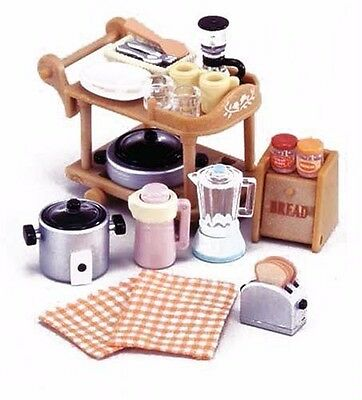 New Sylvanian Families furniture kitchen set Epoch From Japan free Postage s/f