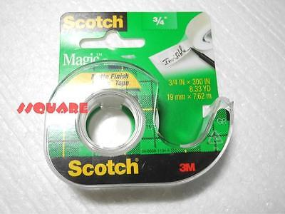 "5 x 3M Scotch 3/4"" x 300"" (8.33 YD) Magic Invisible Writable Tape w/ Dispenser"