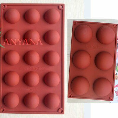 6/15/24 Semi Sphere Half Round Silicone Bakeware Mould Dome Chocolate Bombe Pan