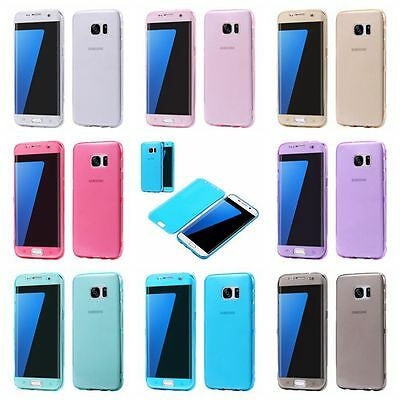 Shockproof Slim Case Flip Silicone Soft TPU Cover Back Bumper for Samsung iPhone