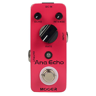 MOOER Ana Echo Analog Delay Mini Guitar Effects Pedal True Bypass