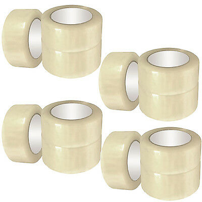 """36 ROLLS OF BUFF CLEAR PACKING PACKAGING PARCEL TAPE 48MM x 66M (2"""") SELLOTAPE"""