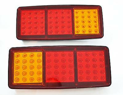 2 Led Rear Tail Lights Truck Lorry Trailer Tipper Chassis Wagon Tractor 24V Pair