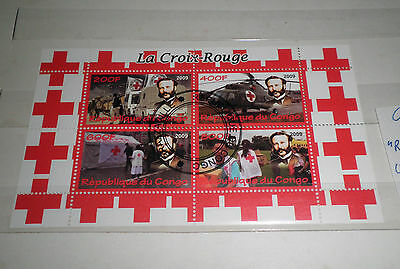 "Congo 2009 ""red Cross"" Used Block (Cat.z)"