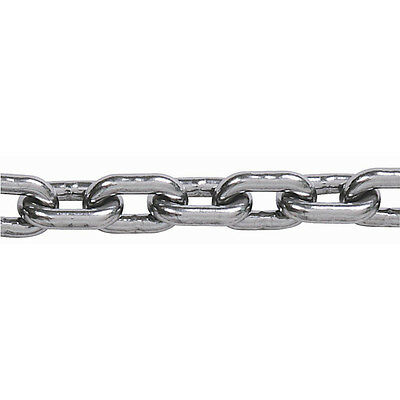 """1/4"""" x 10' G4 Style Stainless Steel Boat Anchor Chain"""