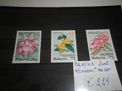 "Stamps Malaysia 2002 ""flowers"" Mnh** Set (Cat.5)"