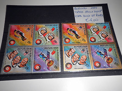 "Burundi 1975 ""space - Apollo Soyuz"" Used Block Set P.o+P.a. (Cat.5)"